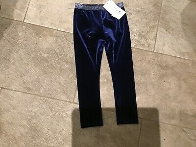 m&S girls navy christmas trousers age 3-4 years brand new