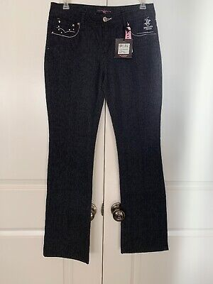 Beverly Hills Polo Club Black Bootcut Jeans Kids 16