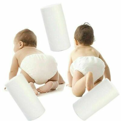 Baby Flushable Disposable Cloth Nappy Diaper Bamboo Liners 100 Sheets 1 Roll WG