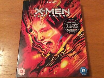 X-Men: Dark Phoenix (Blu-ray, 2019). HMV exclusive slipcover + art cards.