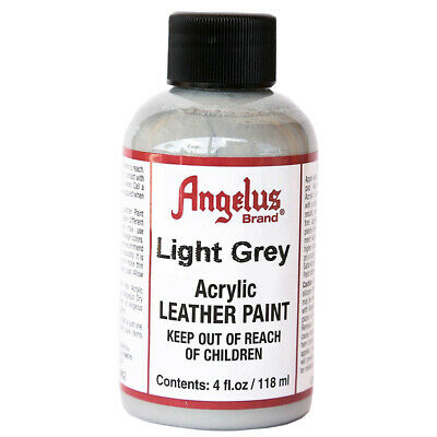C--082 Angelus Acrylic Leather Paint Shoe Boots Bags Light Grey 4 Oz.
