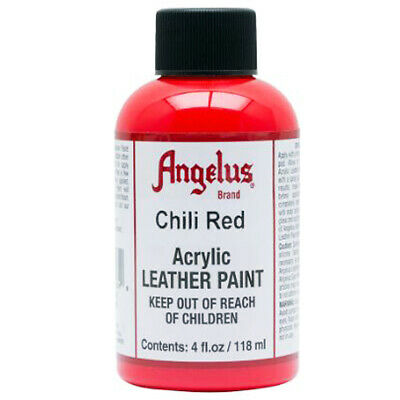 C--260 Angelus Acrylic Leather Paint Shoe Boots Bags Chili Red 4 Oz