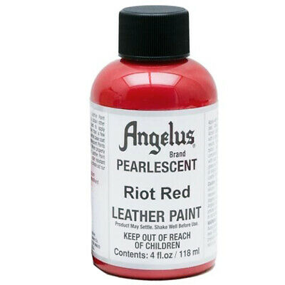 C--451 Angelus Pearlescent Acrylic Leather Paint Riot Red 4 Oz.