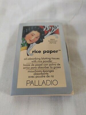 Palladio Rice Paper Tissues, Translucent, Face Blotting Sheets with Natural