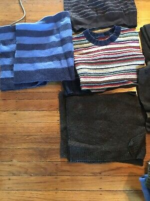 Felted Wool Sweater Lot Squares And Sleeves Beautiful Quality