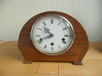GUFA WESTMINSTER CHIMING MANTEL or MANTLE CLOCK. GOOD WORKING ORDER.