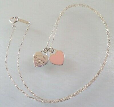 "Authentic Tiffany & Co. Signed, Sterling 925 Stamped, ""Return to Tiffany"" Hearts"
