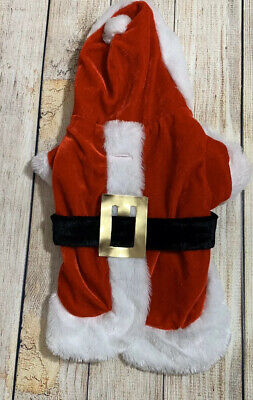 Pet Santa Suit Christmas St. Nick Costume  Small 7-10 Pounds Dog Cat