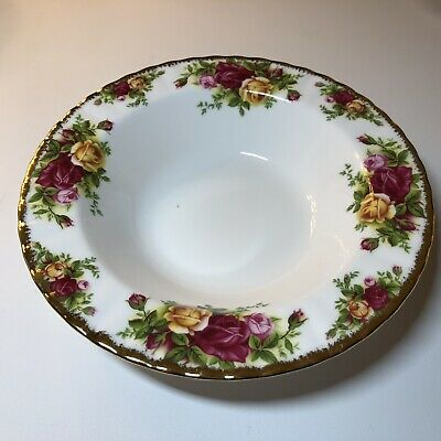 "Old Country Roses 8"" Fluted Bowl Soup Cereal Royal Albert Bone China"