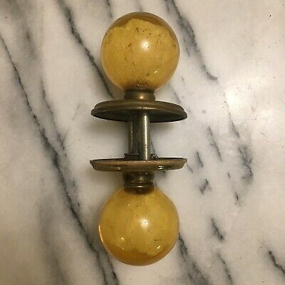 Vintage Door Knob, Ruth Richmond Weiser Lucite Acrylic, in Yellow. MCM Classic!