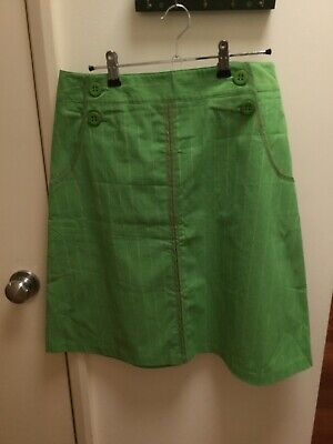 Cue Green Skirt Size 8
