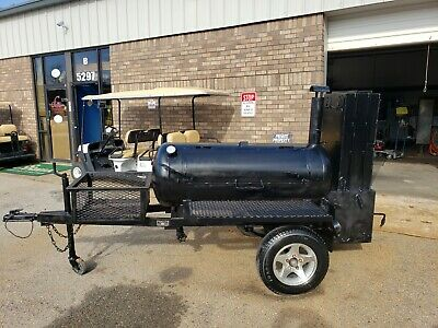 Lang 60 Deluxe BBQ Smoker Cooker Trailer Firewood Rib box Food Truck Business