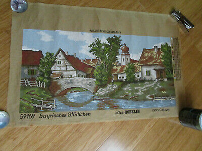 Rico Gobelin Tapestry Of A Bavarian Town  80Cms Wide X 40Cms High