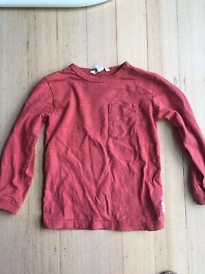 COUNTRY ROAD boys Red Long Sleeve T Shirt top size 4 GUC