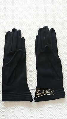 NEW WITH TAGS Cornelia James black gloves made in England size 7