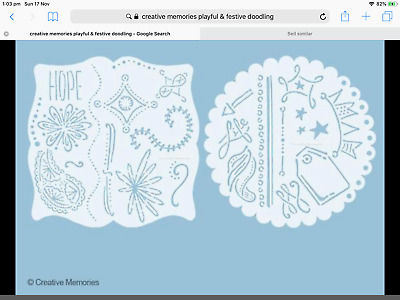Creative Memories PLAYFUL & FESTIVE TEMPLATES set of 2 BRAND NEW with booklet