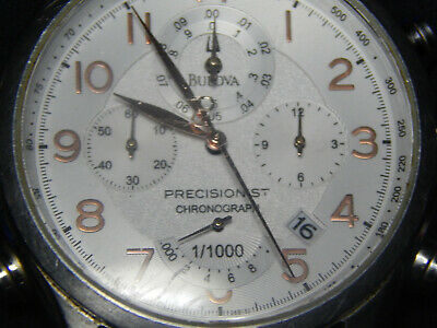 Bulova Precisionist Chronograph Watch Model C877749 Quartz Movement