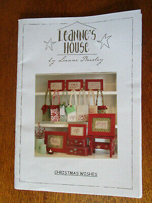 Leanne's House 6 Christmas Stitchery Panels & 1 Christmas Gift Bag Patterns