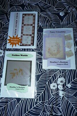 3x EMBROIDERY PATTERNS from HEATHER'S DESIGNS