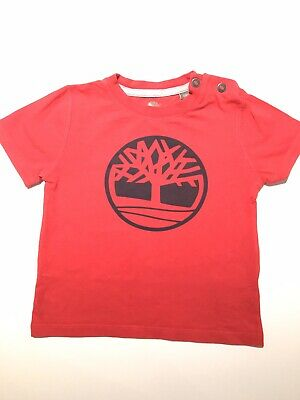 Timberland Boy Red T-shirt Size 2 Perfect Condition