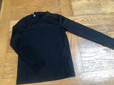 Under Armour ColdGear Black Long Sleeve Top SIZE YMD Youth Medium US 10-12