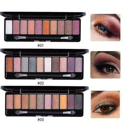 10Colors Matte Shadow Palette Makeup Waterproof Eyeshadow Professional Shad F3A4