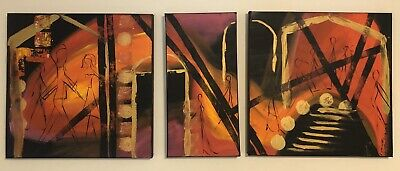 Lynne Pickering Original Triptych - Sunset Dreaming