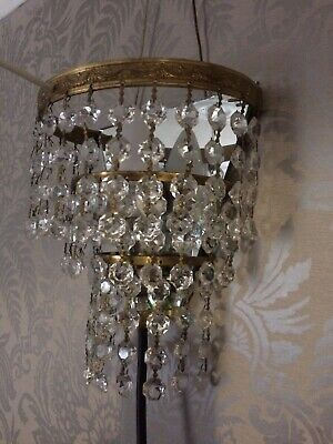 Antique chandelier Crystal/Glass Wall Light