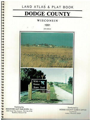 1991 Dodge County Wisconsin Land Atlas &  Plat Book  soft covered