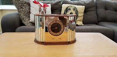 Stunning Rare Vintage Art Deco Style Clock By Smiths