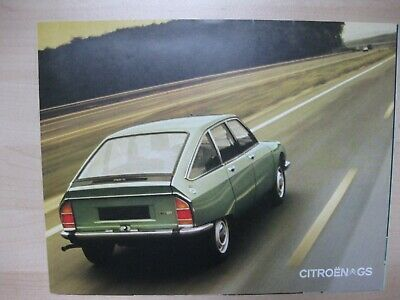 Citroen GS folder brochure Prospekt Dutch text 6 pages 1972 1973