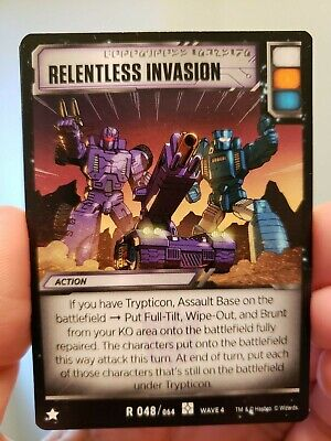 Transformers tcg Relentless Invasion Rare R048/064 Wave 4