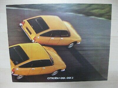 Citroen GSX GSX2  brochure Prospekt Dutch text 8 pages 1974 1975