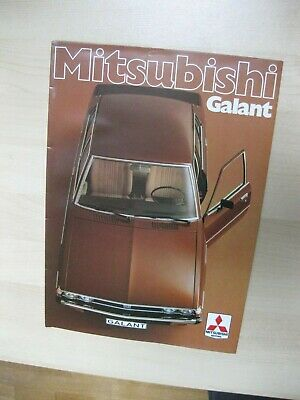 Mitsubishi Galant folder brochure Prospekt German text Deutsch 16 pages 1985