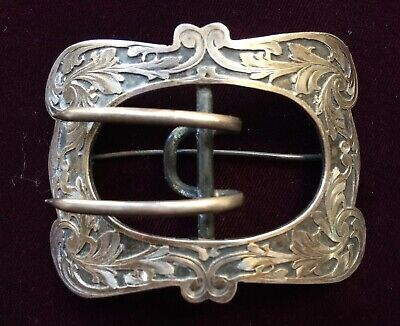 Antique Tiffany & Co. Sterling Silver Belt Buckle Pin Signed Sterling LF 24