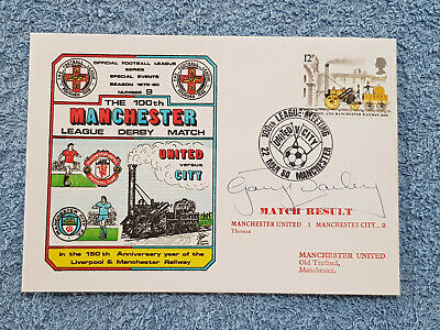 1980 - Gary Bailey Signed Cover - 100Th Manchester Derby - 79/80