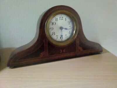Antique Inlaid Mahogany thirty hour Mantle Clock.