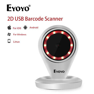 Eyoyo EY-6500 2D Auto-sensing Barcode Scanner USB Screen Scanner for Linux Store