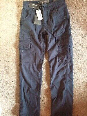 Boys Fat Face Cargo style trousers in Dark Blue Age 9 years