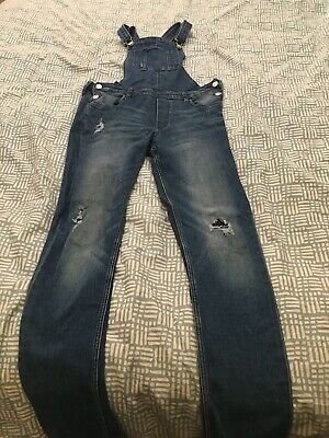 H&M Kids Denim Distressed Dungarees 14+ Years
