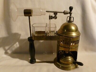 RARE Antique Brass Medical RT Steam Atomizer Nebulizer Respiratory Therapist