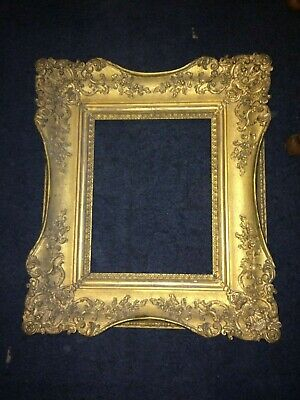 Rare Heavy E Radclyffe  Antique Gold Picture Frame High Holborn Carvers Gilders