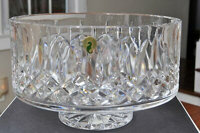 "Waterford Lismore Simplicity 10"" Footed Bowl Crystal Made in Ireland New In Box"