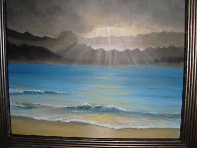 Beautiful hand painted scenic acrylic panting by a very talented artist. 8 X 10