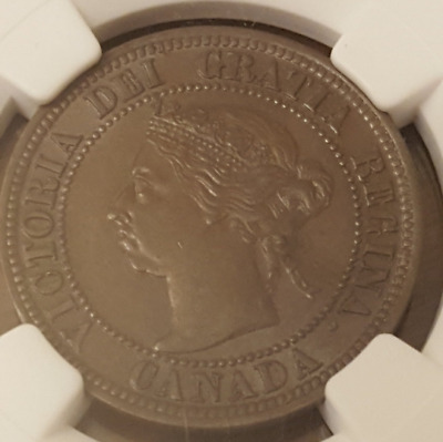 1891 Canada Cent Large Leaves Small Date LLSD NGC AU58