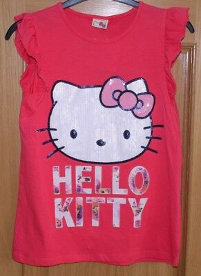 TU, Hello Kitty, girls sleeveless pink cotton summer top, age 12 years BNWT