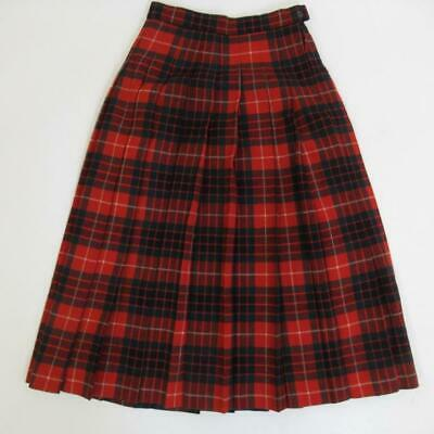"""Clan Laird Ladies Kilt Skirt 100% Pure New Wool Made in Scotland Size W 25"""" L31"""""""