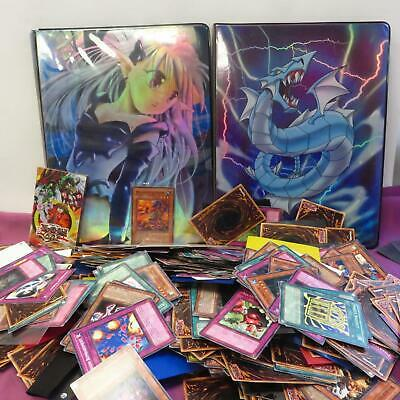 Vintage Job Lot of Yu-gi-oh! trading cards including two card booklets
