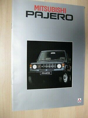 Mitsubishi Pajero brochure Prospekt text Dutch 16 pages 1983