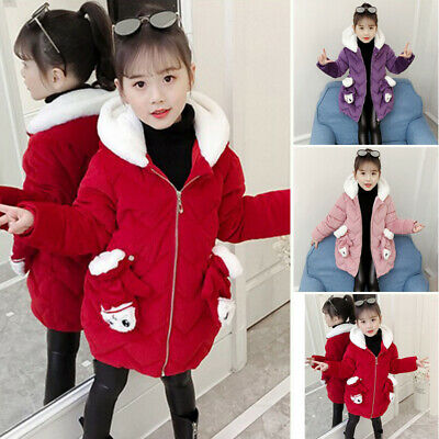 Girls Tops Jacket Coat Hooded Casual Tops Fashion Winter Jacket Hoodie